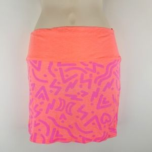 Hurley Bright Neon Mini Tube Skirt Size XS